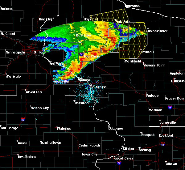 Radar Image for Severe Thunderstorms near Jump River, WI at 6/11/2017 11:14 AM CDT