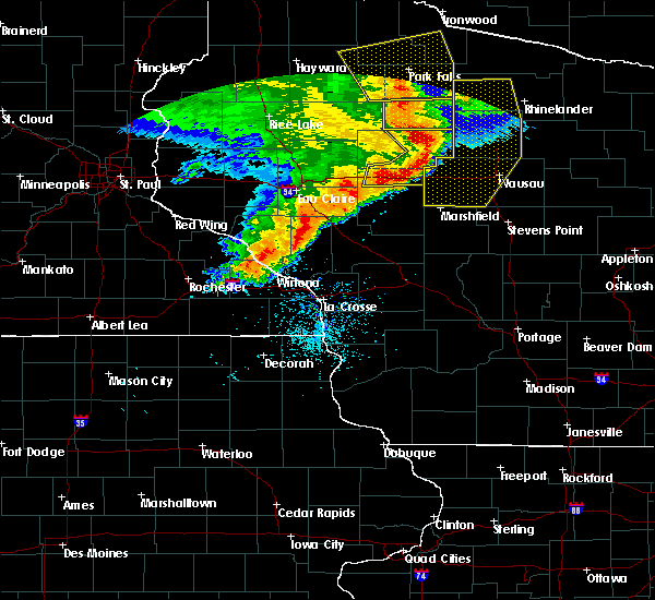 Radar Image for Severe Thunderstorms near Withee, WI at 6/11/2017 11:25 AM CDT