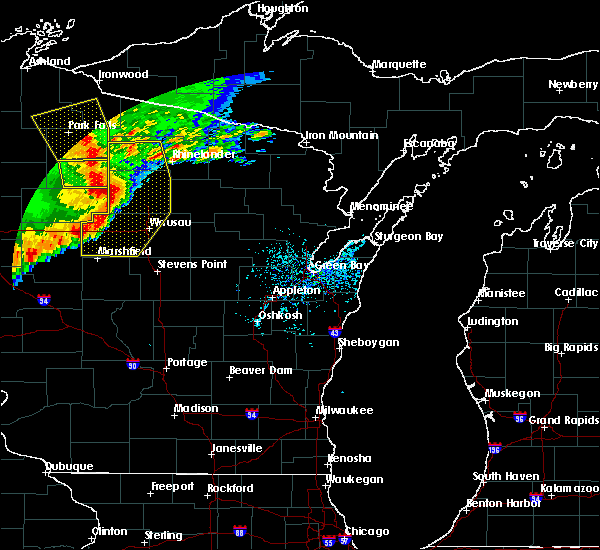 Radar Image for Severe Thunderstorms near Unity, WI at 6/11/2017 11:41 AM CDT