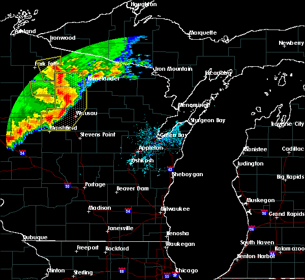 Radar Image for Severe Thunderstorms near Unity, WI at 6/11/2017 11:53 AM CDT