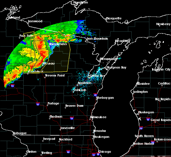 Radar Image for Severe Thunderstorms near Summit Lake, WI at 6/11/2017 12:05 PM CDT