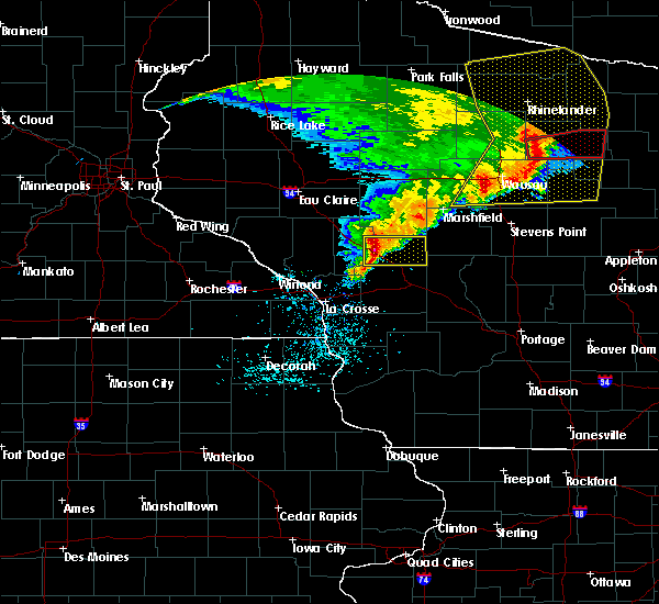 Radar Image for Severe Thunderstorms near Hatfield, WI at 6/11/2017 12:20 PM CDT