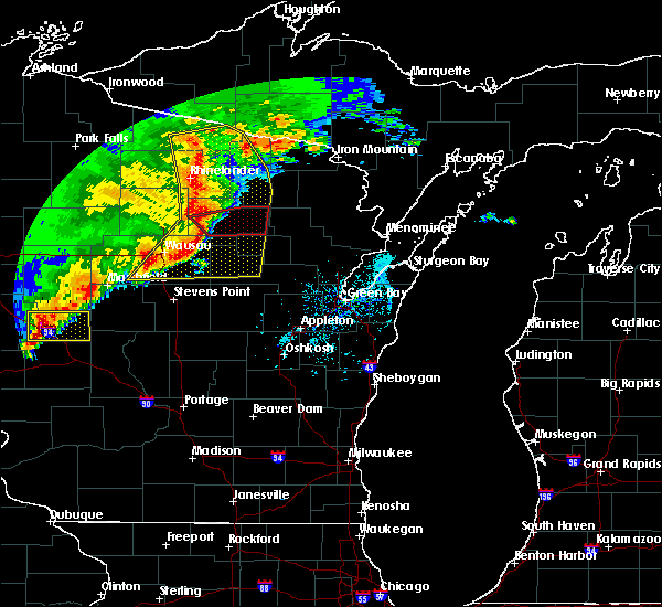 Radar Image for Severe Thunderstorms near Summit Lake, WI at 6/11/2017 12:26 PM CDT