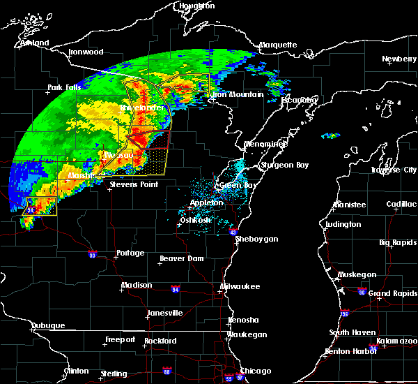 Radar Image for Severe Thunderstorms near Summit Lake, WI at 6/11/2017 12:38 PM CDT
