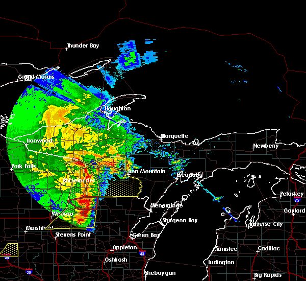 Radar Image for Severe Thunderstorms near Crandon, WI at 6/11/2017 12:41 PM CDT