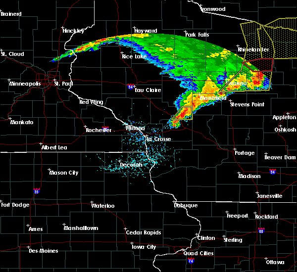Radar Image for Severe Thunderstorms near Millston, WI at 6/11/2017 12:44 PM CDT