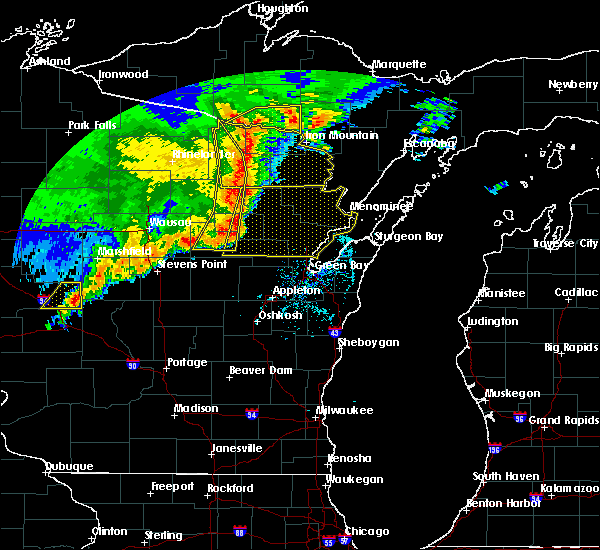 Radar Image for Severe Thunderstorms near Marion, WI at 6/11/2017 12:51 PM CDT
