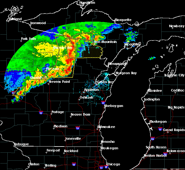 Radar Image for Severe Thunderstorms near Crandon, WI at 6/11/2017 12:50 PM CDT