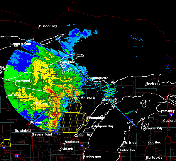 Radar Image for Severe Thunderstorms near Pembine, WI at 6/11/2017 12:56 PM CDT