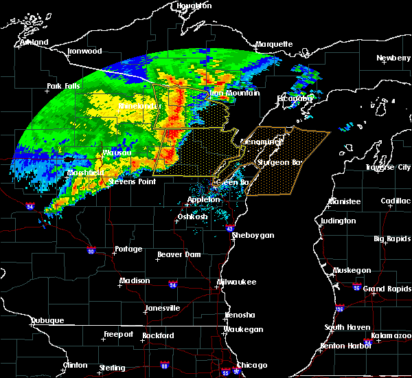 Radar Image for Severe Thunderstorms near Marion, WI at 6/11/2017 1:02 PM CDT