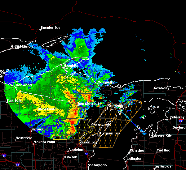 Radar Image for Severe Thunderstorms near Pembine, WI at 6/11/2017 1:18 PM CDT