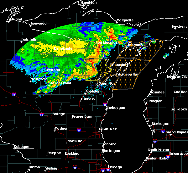Radar Image for Severe Thunderstorms near Abrams, WI at 6/11/2017 1:27 PM CDT