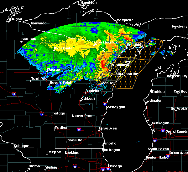 Radar Image for Severe Thunderstorms near Sturgeon Bay, WI at 6/11/2017 1:42 PM CDT