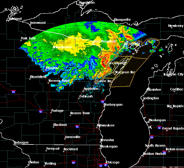 Radar Image for Severe Thunderstorms near Sturgeon Bay, WI at 6/11/2017 1:54 PM CDT