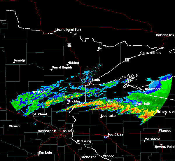 Radar Image for Severe Thunderstorms near Little Round Lake, WI at 6/11/2017 3:25 PM CDT
