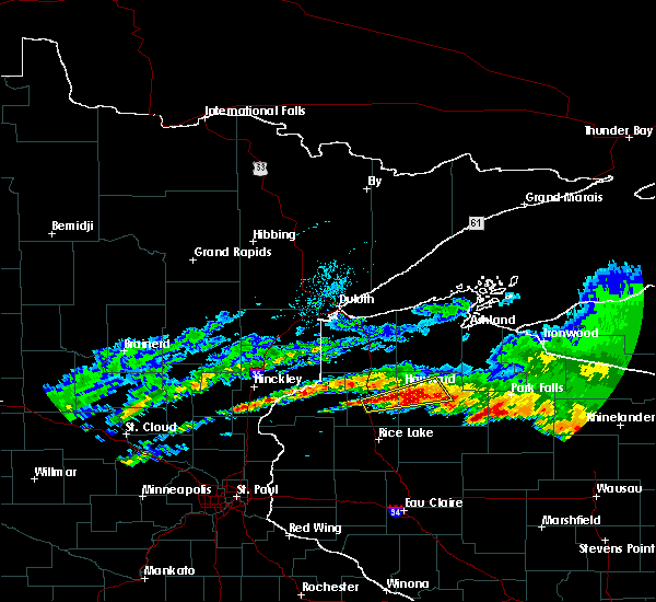 Radar Image for Severe Thunderstorms near Little Round Lake, WI at 6/11/2017 3:40 PM CDT