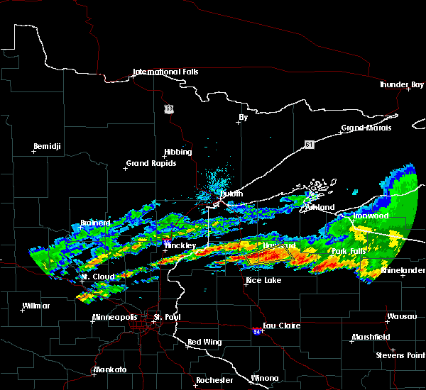 Radar Image for Severe Thunderstorms near Little Round Lake, WI at 6/11/2017 3:49 PM CDT