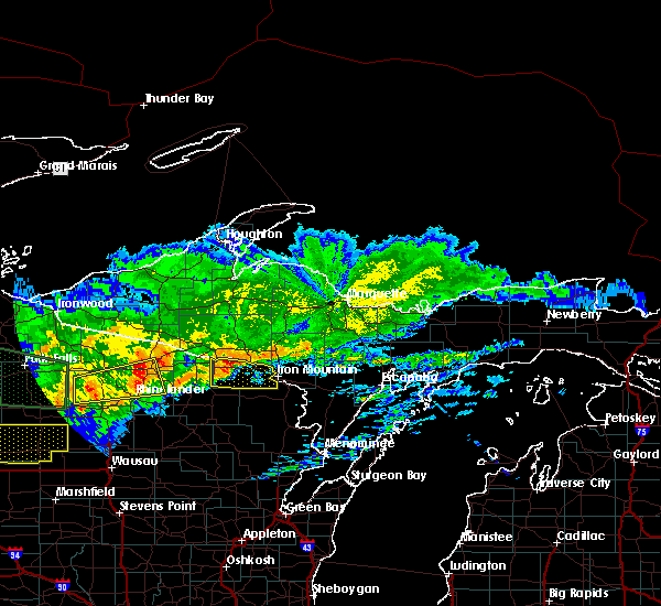 Radar Image for Severe Thunderstorms near Rhinelander, WI at 6/11/2017 8:04 PM CDT