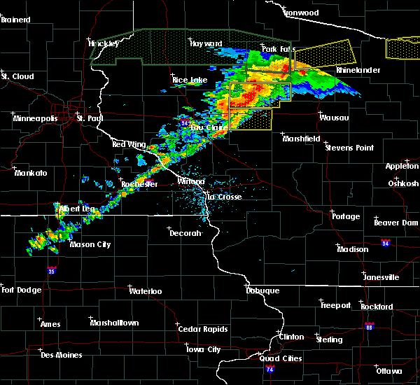Radar Image for Severe Thunderstorms near Unity, WI at 6/11/2017 8:06 PM CDT