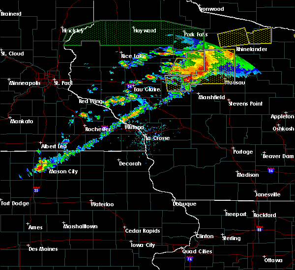 Radar Image for Severe Thunderstorms near Unity, WI at 6/11/2017 8:44 PM CDT