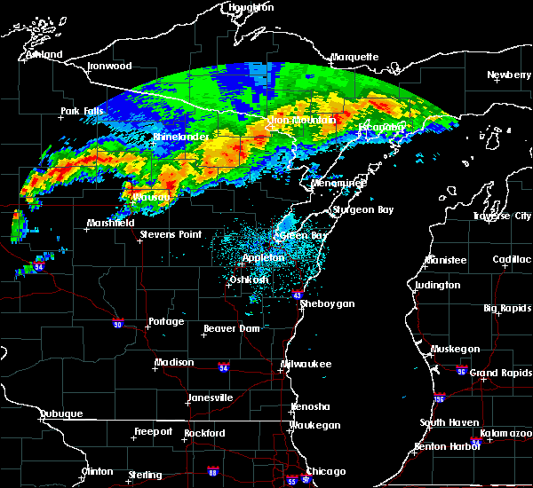 Radar Image for Severe Thunderstorms near Pembine, WI at 6/11/2017 9:36 PM CDT