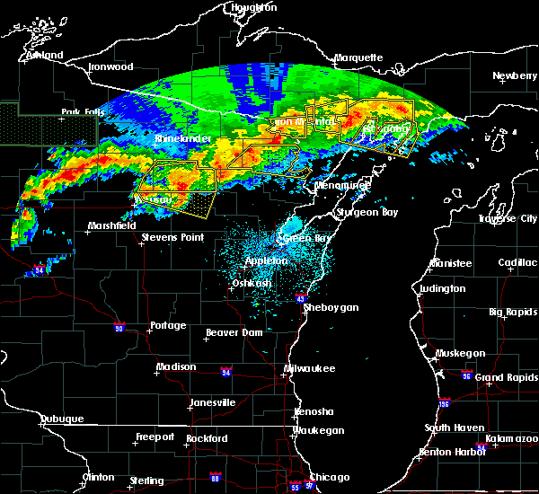 Radar Image for Severe Thunderstorms near Aniwa, WI at 6/11/2017 9:46 PM CDT