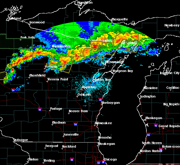 Radar Image for Severe Thunderstorms near Pembine, WI at 6/11/2017 9:49 PM CDT