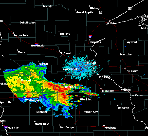Radar Image for Severe Thunderstorms near Good Thunder, MN at 6/12/2017 1:00 PM CDT