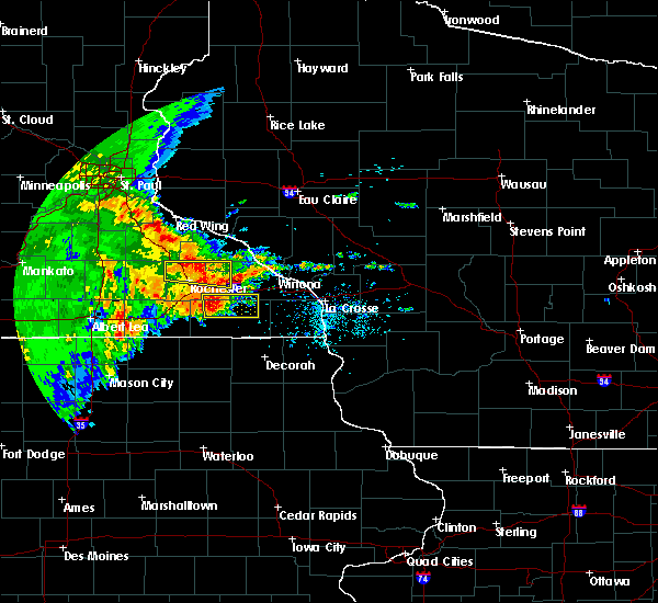 Radar Image for Severe Thunderstorms near Fountain, MN at 6/12/2017 2:36 PM CDT