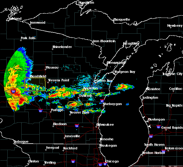 Radar Image for Severe Thunderstorms near Rosendale, WI at 6/12/2017 4:55 PM CDT