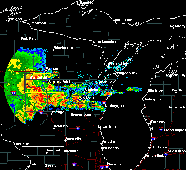 Radar Image for Severe Thunderstorms near Mosinee, WI at 6/12/2017 5:42 PM CDT