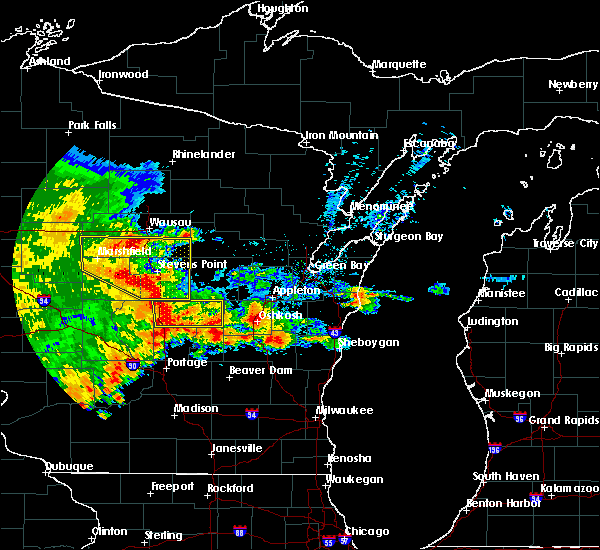 Radar Image for Severe Thunderstorms near Mosinee, WI at 6/12/2017 6:03 PM CDT