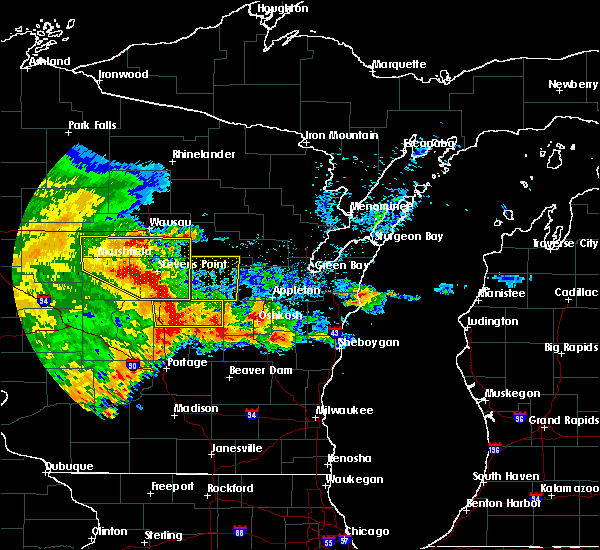Radar Image for Severe Thunderstorms near Waupaca, WI at 6/12/2017 6:09 PM CDT