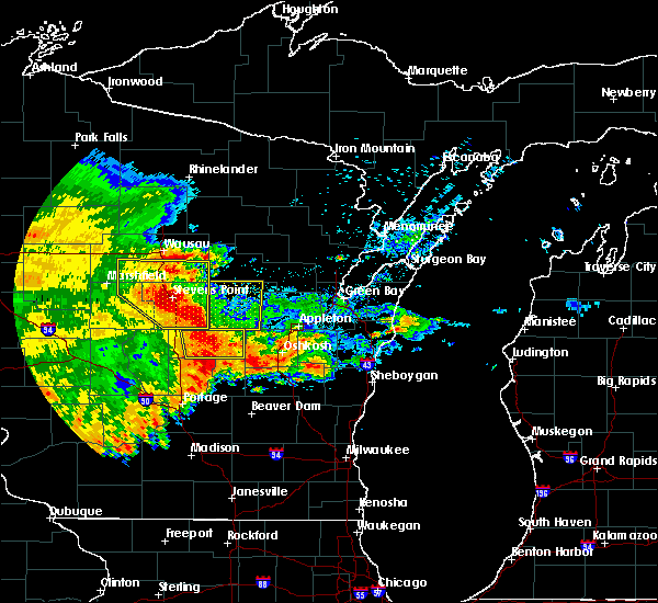 Radar Image for Severe Thunderstorms near Arpin, WI at 6/12/2017 6:18 PM CDT
