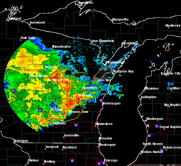 Radar Image for Severe Thunderstorms near Amherst, WI at 6/12/2017 6:53 PM CDT