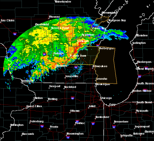 Radar Image for Severe Thunderstorms near Slinger, WI at 6/12/2017 7:04 PM CDT