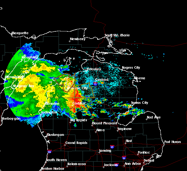 Radar Image for Severe Thunderstorms near South Boardman, MI at 6/13/2017 12:01 AM EDT