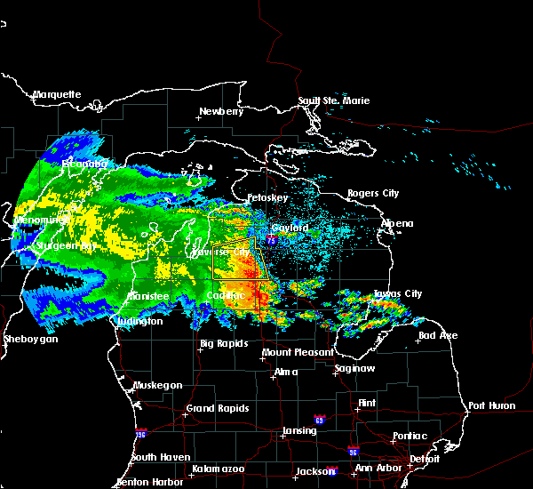 Radar Image for Severe Thunderstorms near South Boardman, MI at 6/13/2017 12:26 AM EDT