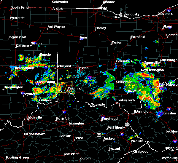 Radar Image for Severe Thunderstorms near Dayton, OH at 6/13/2017 11:49 AM EDT