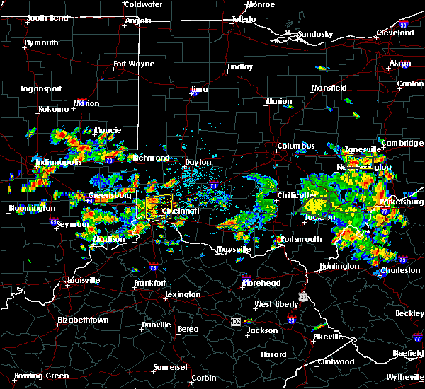 Radar Image for Severe Thunderstorms near Cincinnati, OH at 6/13/2017 12:07 PM EDT