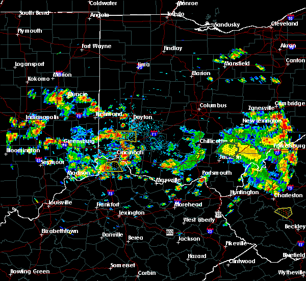 Radar Image for Severe Thunderstorms near Lebanon, OH at 6/13/2017 12:37 PM EDT