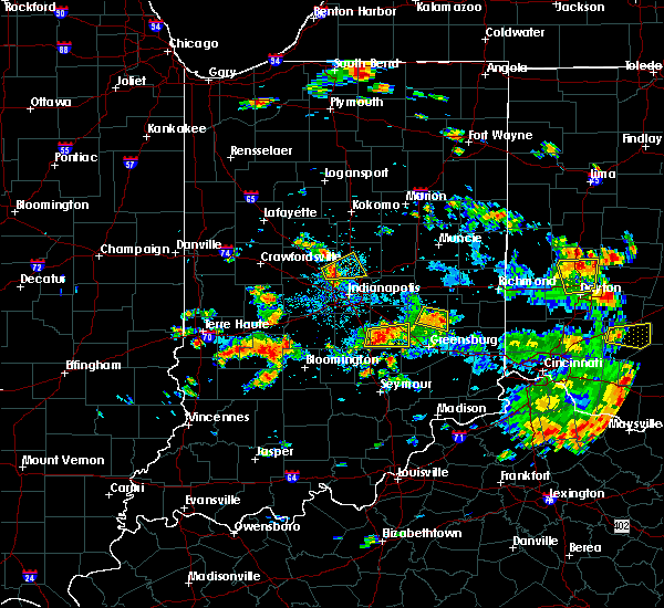 Radar Image for Severe Thunderstorms near Whitestown, IN at 6/13/2017 1:54 PM EDT