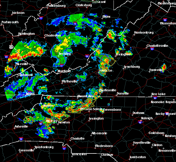 Radar Image for Severe Thunderstorms near Taylorsville, NC at 6/13/2017 3:27 PM EDT