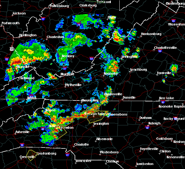 Radar Image for Severe Thunderstorms near Taylorsville, NC at 6/13/2017 3:49 PM EDT
