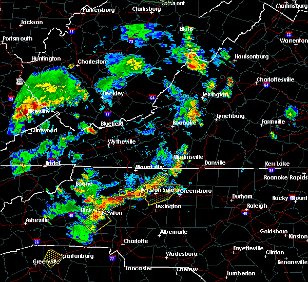Radar Image for Severe Thunderstorms near High Point, NC at 6/13/2017 3:55 PM EDT