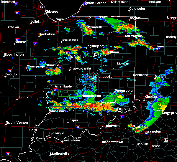 Radar Image for Severe Thunderstorms near Bedford, IN at 6/13/2017 4:02 PM EDT