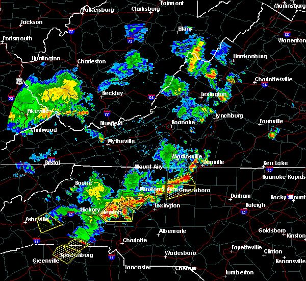 Radar Image for Severe Thunderstorms near High Point, NC at 6/13/2017 4:36 PM EDT