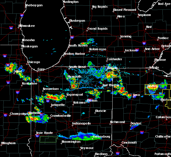 Radar Image for Severe Thunderstorms near Burket, IN at 6/13/2017 4:39 PM EDT