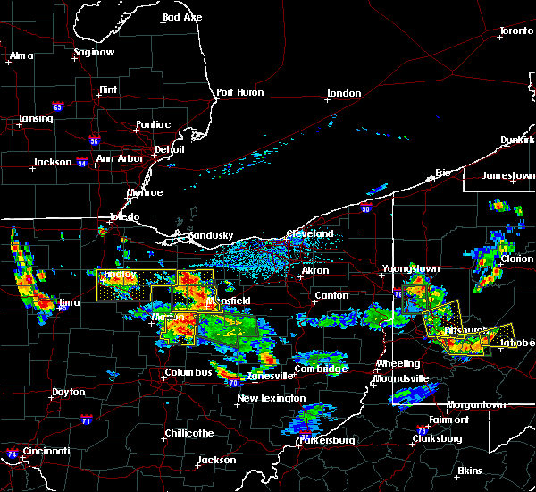 Radar Image for Severe Thunderstorms near Mansfield, OH at 6/13/2017 4:50 PM EDT