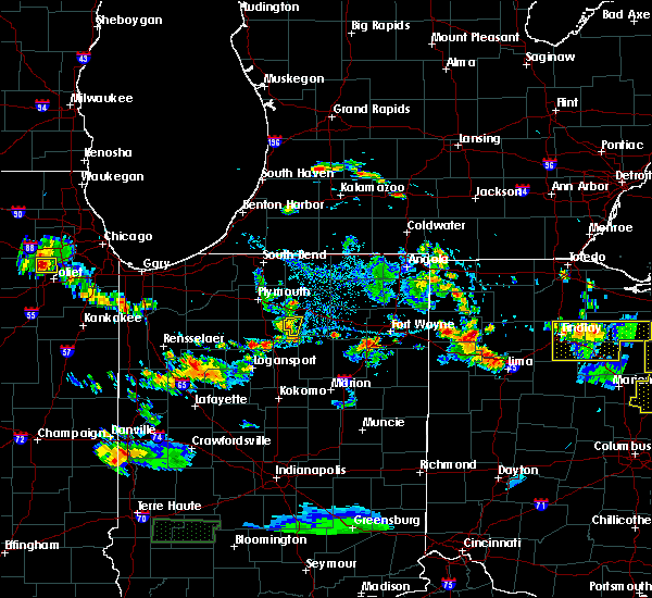 Radar Image for Severe Thunderstorms near Akron, IN at 6/13/2017 4:56 PM EDT